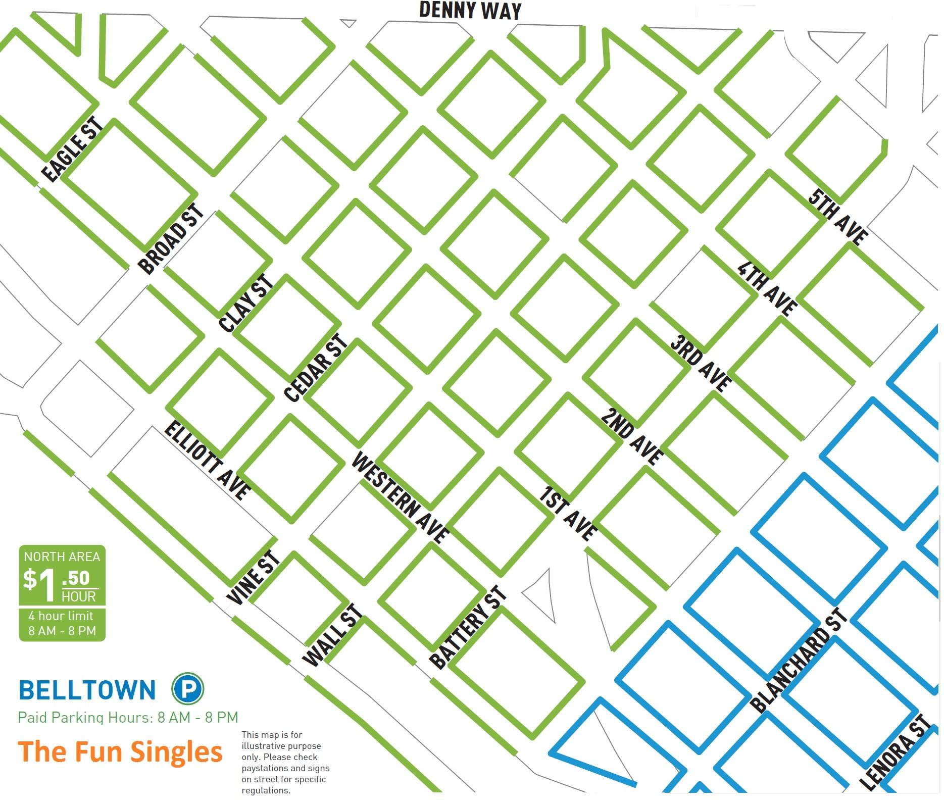 Seattle Speeed Dating event where single woman is meeting a single man and having fun time, parking map