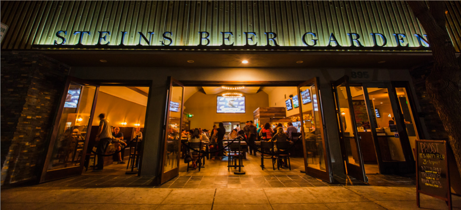 South Bay Single Professionals get together in a bar of a restaurant